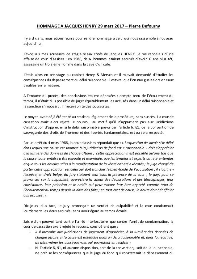 HOMMAGE A JACQUES HENRY 29 mars 2017 – Pierre Defourny Il y a dix ans, nous étions réunis pour rendre hommage à celui qui ...