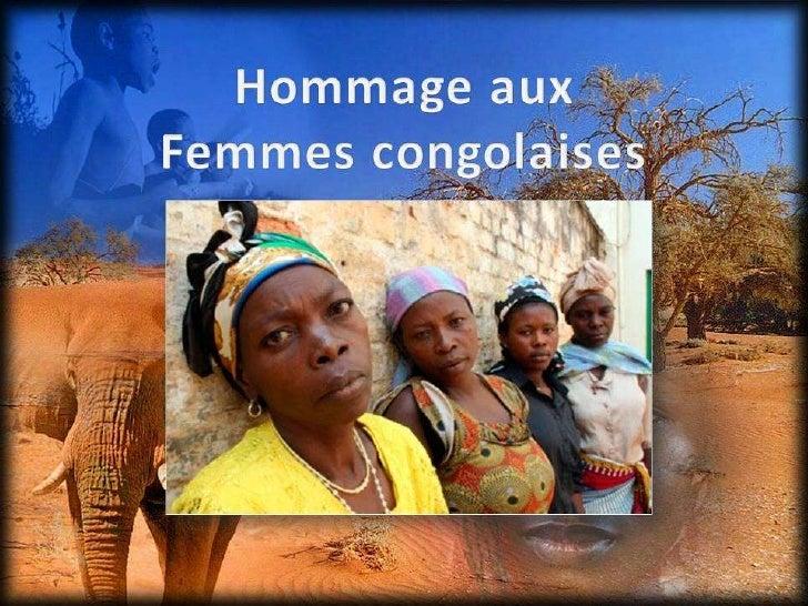 Hommage aux femmes du congo.