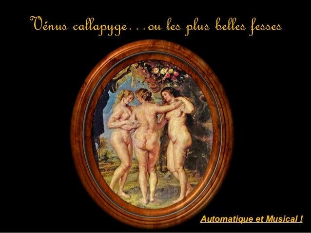 Vénus callapyge…ou les plus belles fesses                           Automatique et Musical !