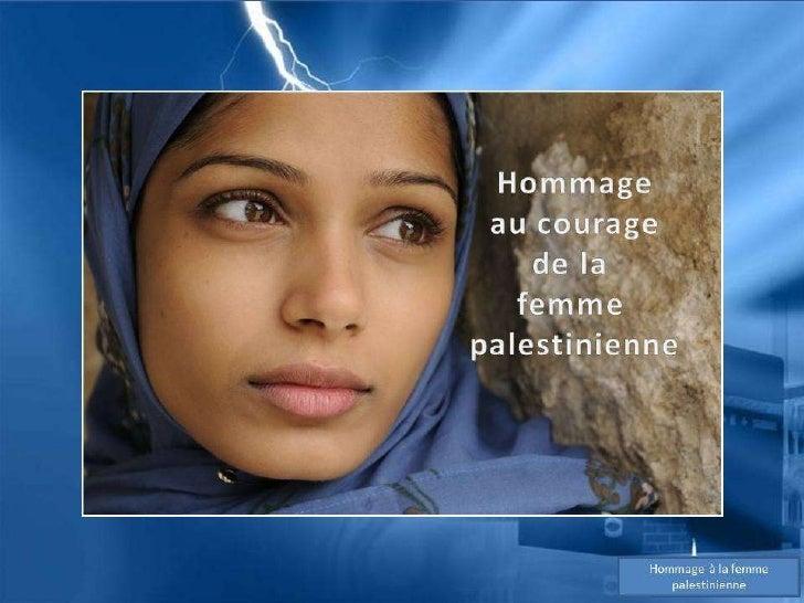 Hommage à la femme palestinienne