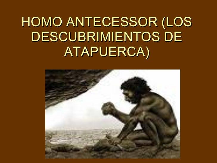 HOMO ANTECESSOR (LOS DESCUBRIMIENTOS DE ATAPUERCA)