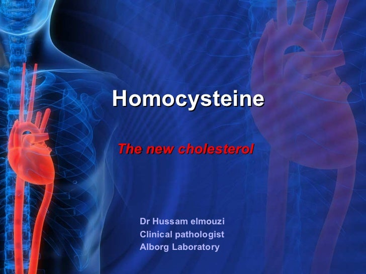 Homocysteine Dr Hussam elmouzi  Clinical pathologist  Alborg Laboratory The new cholesterol