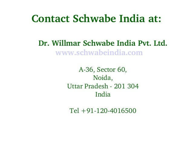 Homeopathic Medicines for Cough & Cold - Schwabe India