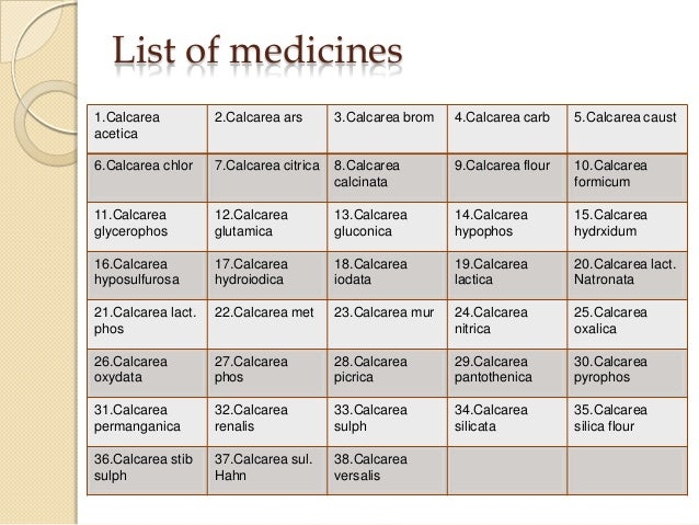 Homeopathic Medicine List And Uses Pdf