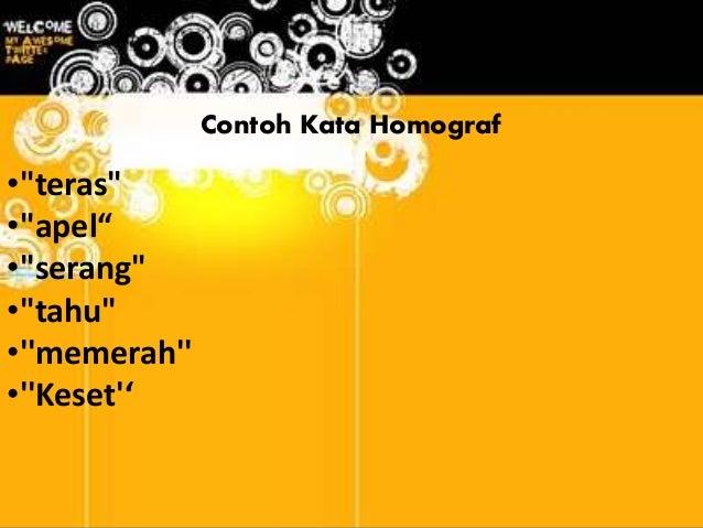 Homofon Dan Homograf