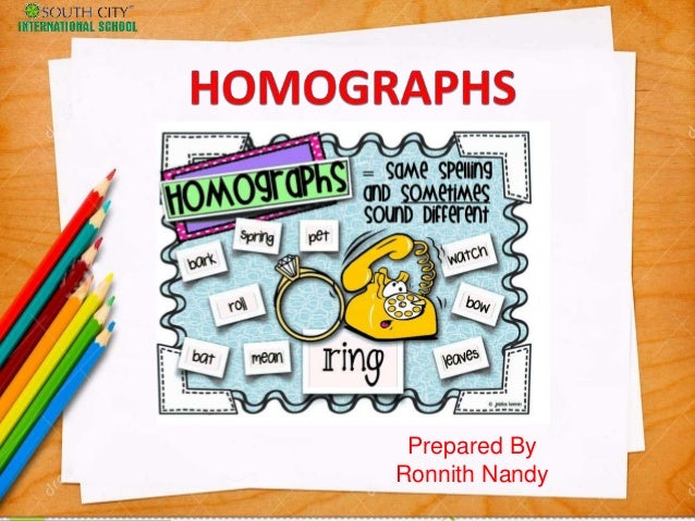Homographs And Its Examples
