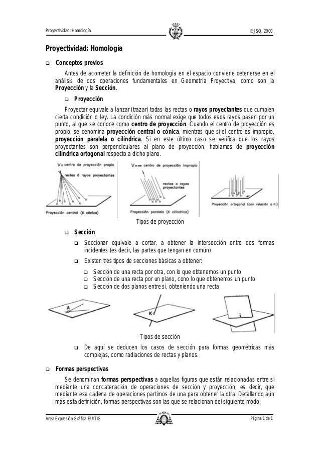 Proyectividad: Homología                                                                 ©JSQ, 2000Proyectividad: Homologí...