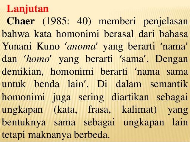 Contoh Kalimat Homonim Dari Kata Buku Feb Contoh