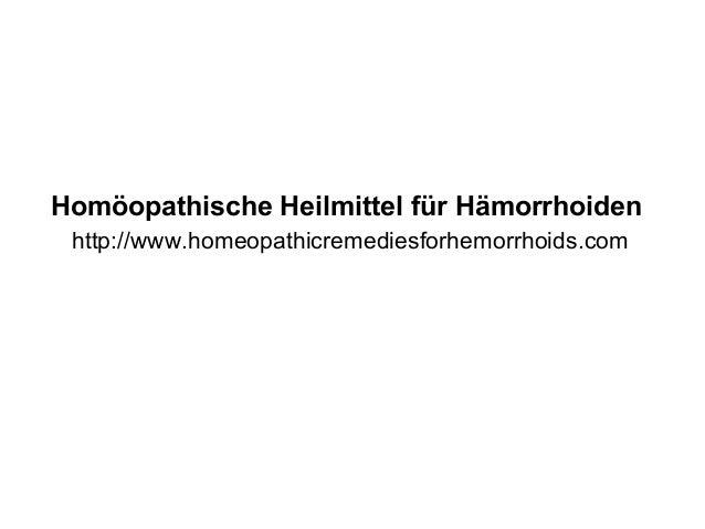Homöopathische Heilmittel für Hämorrhoiden http://www.homeopathicremediesforhemorrhoids.com