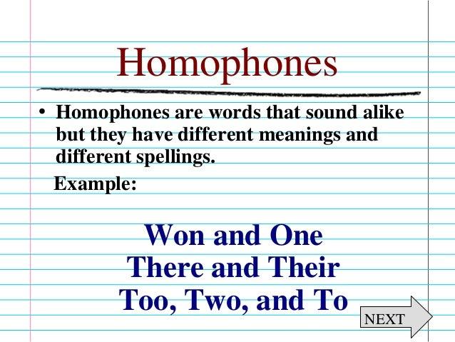 Homophone Homograph