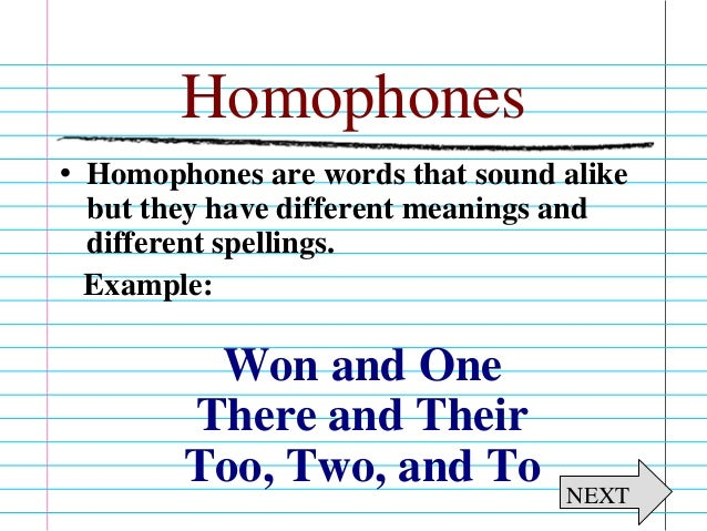 Homophonehomograph