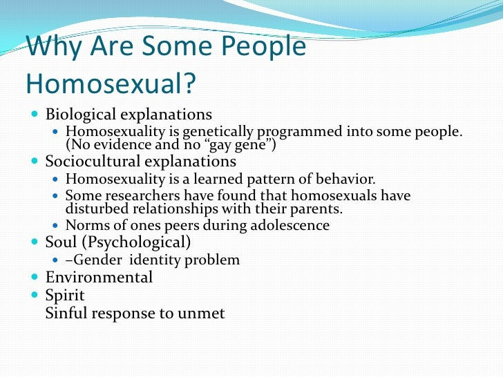 Homosexuality genetic or learned