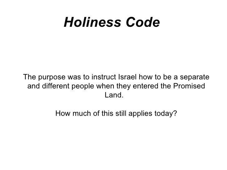 Holiness code homosexuality statistics