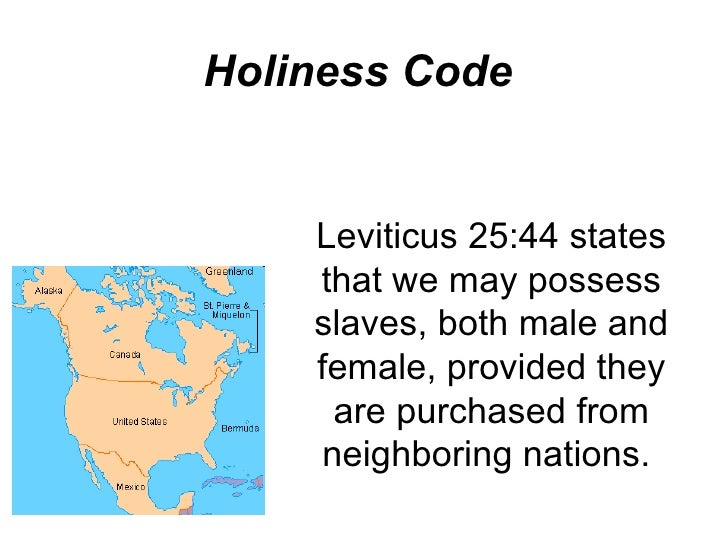 Holiness code homosexuality