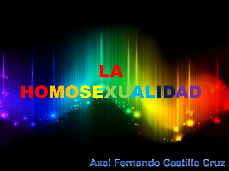 LAHOMOSEXUALIDAD