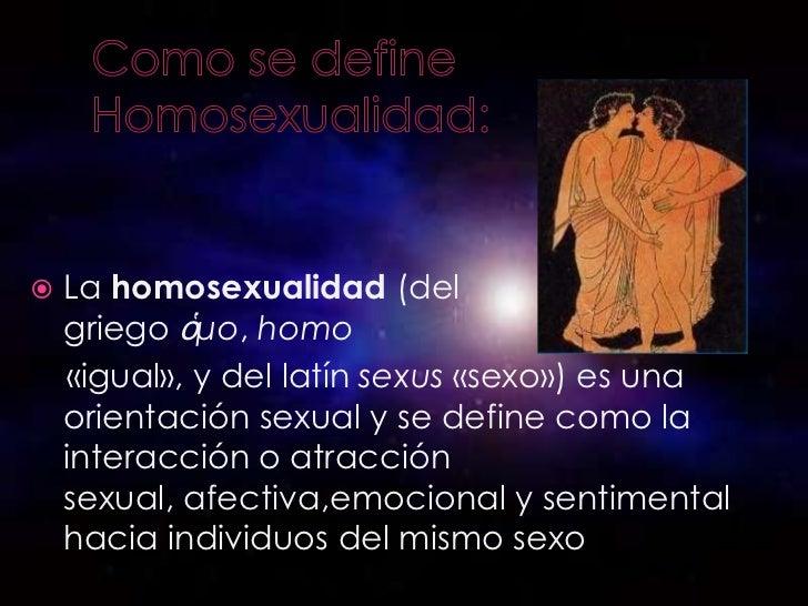 Homosexualidad Slide 3