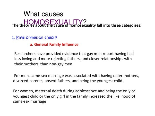 Homosexuality causes disease
