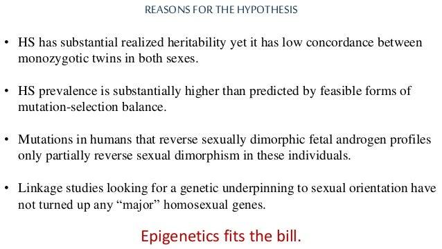 Epigenetics homosexuality twins