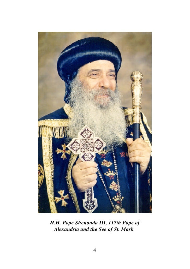 Homosexuality And Ordination Of Women By Hh Pope Shenoda 3 The Cop