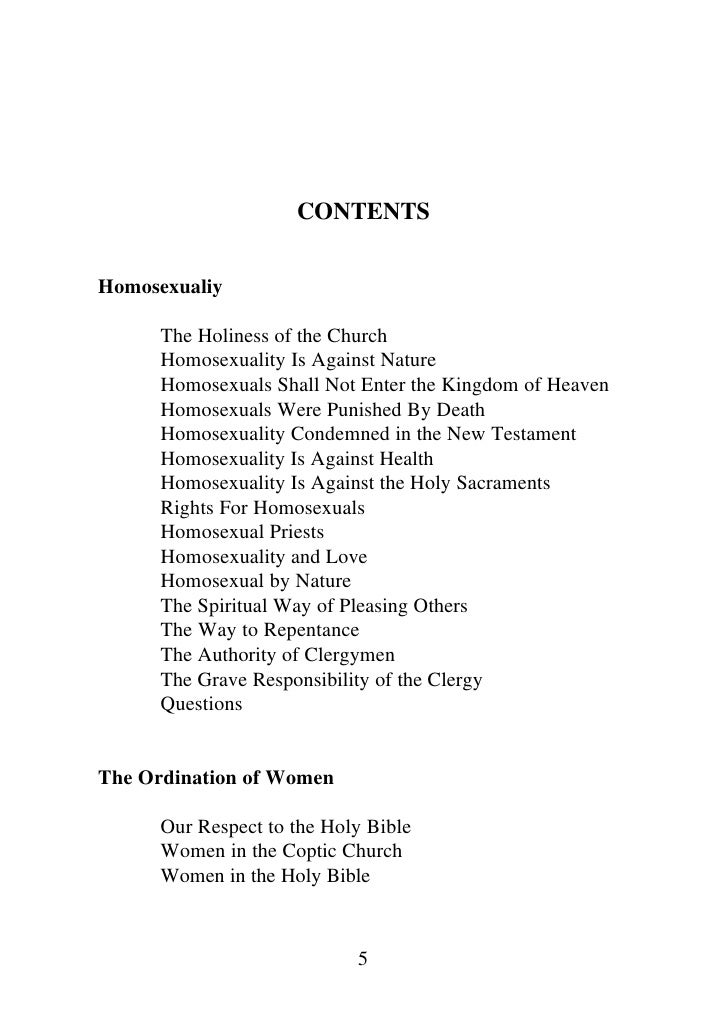 Coptic orthodox and homosexuality