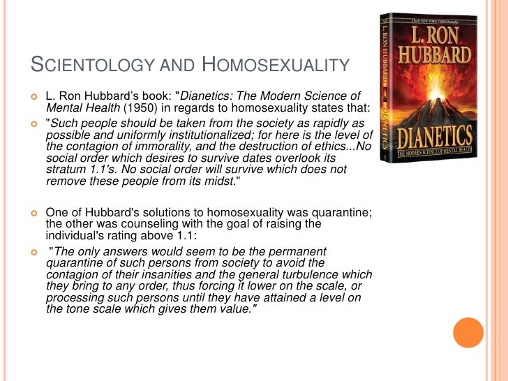 What is scientology beliefs on homosexuality
