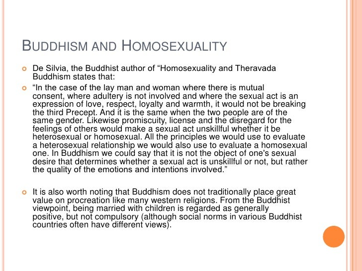 Buddhist stance on homosexuality statistics