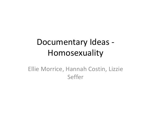 Homo sexuality documentary