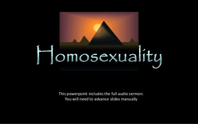 Sermon about homosexual relationships