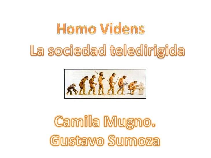 Homo videns Slide 1