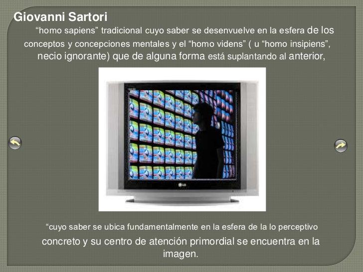 """Giovanni Sartori   """"""""homo sapiens"""" tradicional cuyo saber se desenvuelve en la esfera de los conceptos y concepciones ment..."""