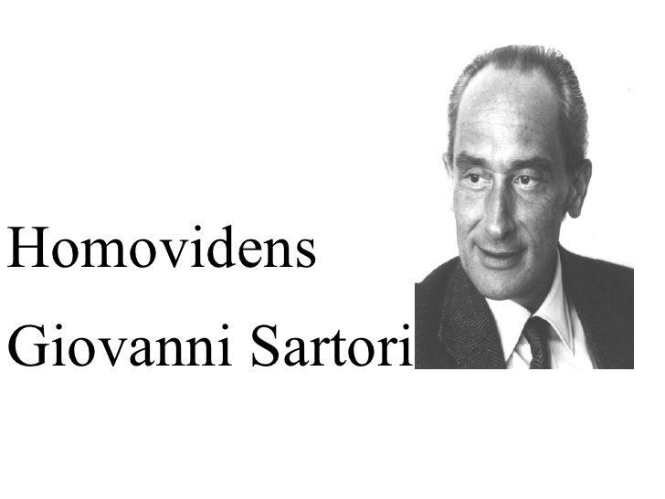 Homovidens Giovanni Sartori