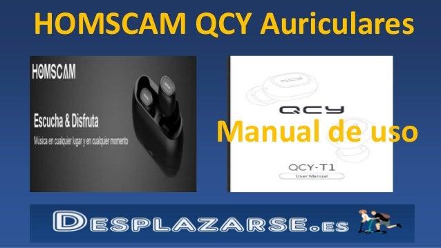 HOMSCAM QCY Auriculares Manual de uso