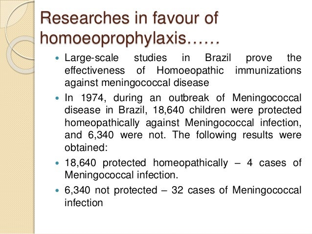Homoeopathic prophylaxis VS Vaccination