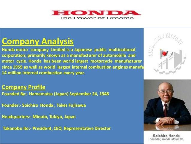 2 Company Analysis Honda Motor
