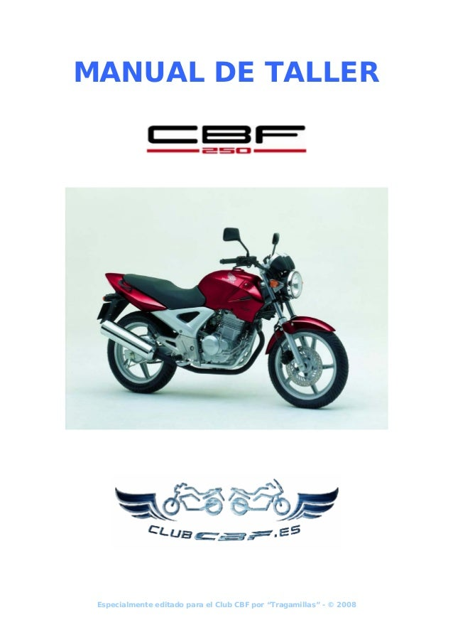 honda cbf 250 workshop manual