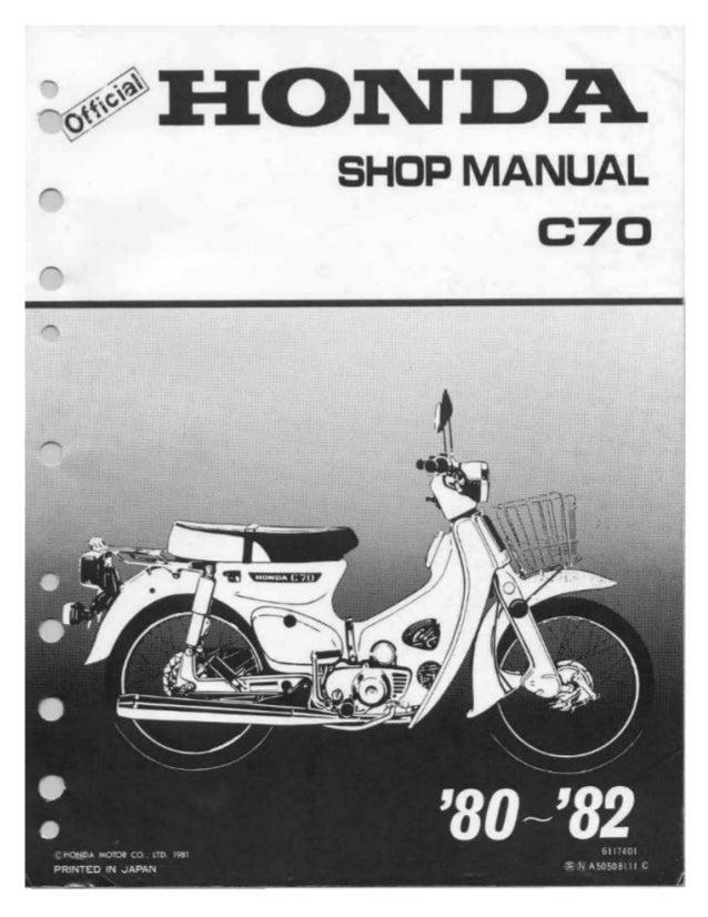 honda cup c70 passport 80 81 service manual rh slideshare net honda c70 repair manual download honda c70 service manual pdf