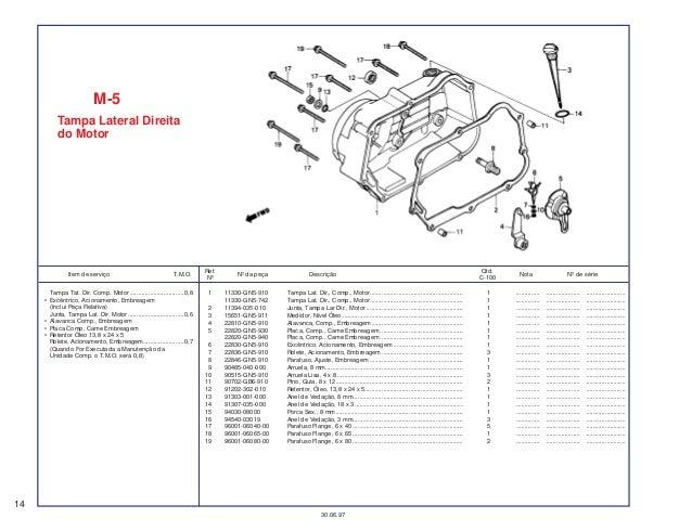 Honda ex5dream 100sparepartcatalogmanual