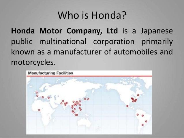 Honda International Case Study