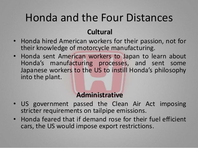 the honda effect case study Free case study solution & analysis honda case international a good example of the former it's the incursion of honda to the us motorcycle market in the 1960.