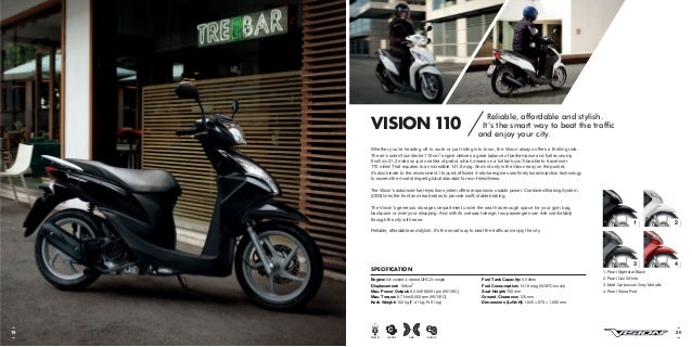 honda vision 50 scooters brochure rh slideshare net honda vision 110 repair manual honda vision nsc 110 manual