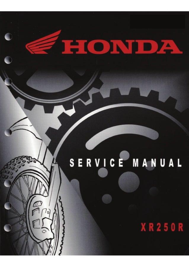 honda xr250r service manual 1996 2004 rh slideshare net Moto Honda Tornado 250 Moto Honda Tornado 250 FMF