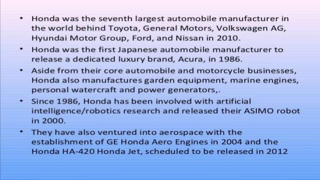 swot of honda Honda swot analysis is covered on this page along with usp & competition it  also includes honda motors' segmentation, targeting & positioning (stp) along.
