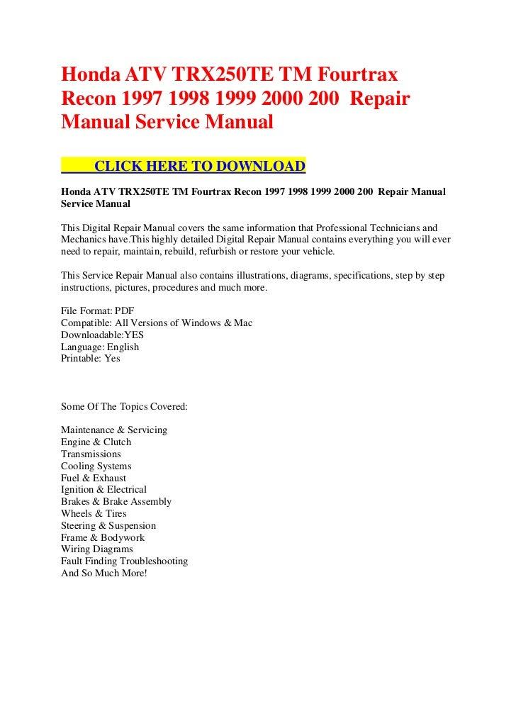 Honda Ag 200 manual