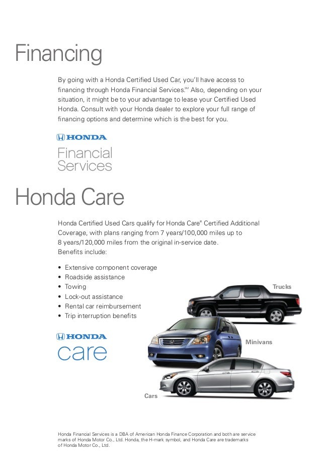 Honda Certified Used Cars Information For Manassas Chantilly Grains