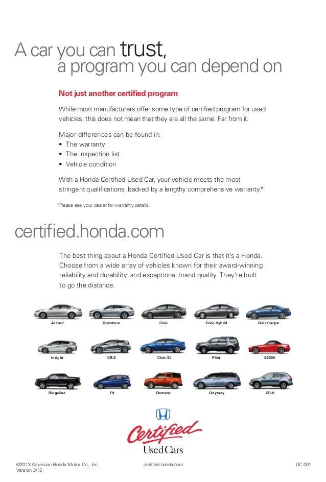 Jack Key Las Cruces U003eu003e Honda Certified Used Cars Information Brochure For  El Paso,
