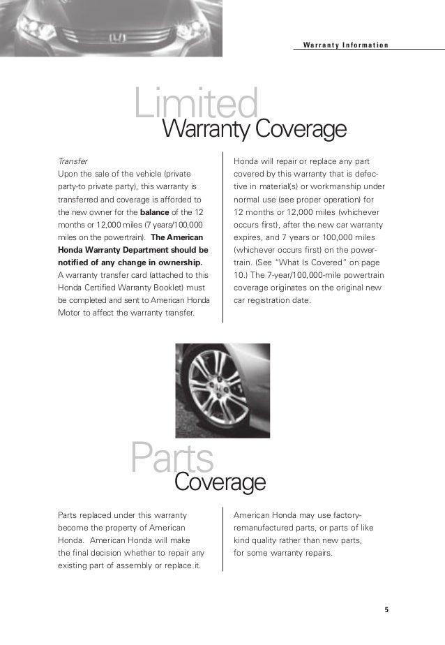 Honda certified used cars warranty booklet for el paso for Honda dealership las cruces