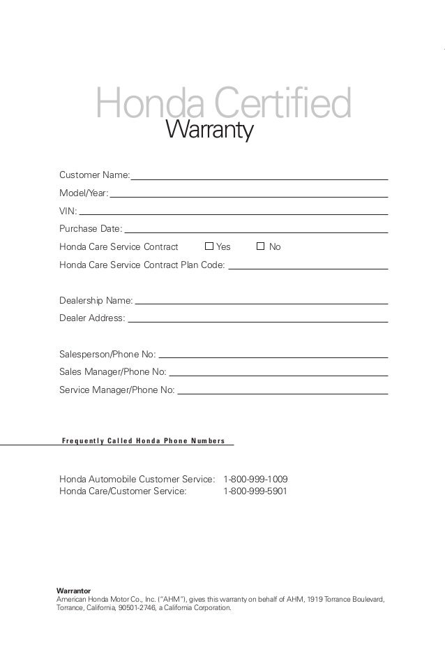 Honda Certified Used Cars Warranty Booklet For Manassas, Chantilly,  Grainsville, Fairfax, Tysons Corner, U0026 Cashington DC New And Used Cars U2013  Joyce Koons ...