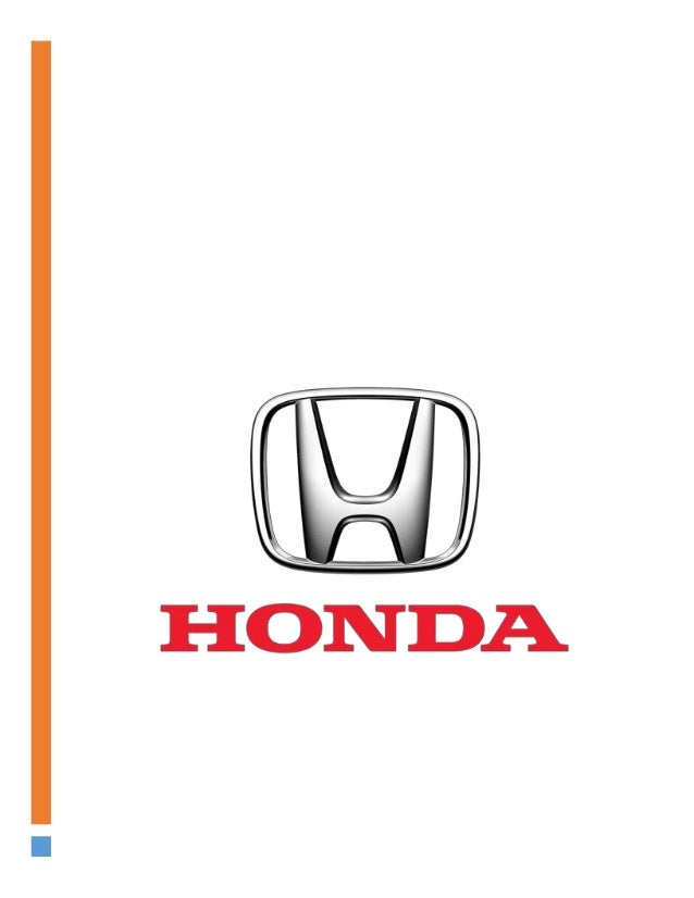 A Company Analysis Report Of Honda Managerial Economics Project 2