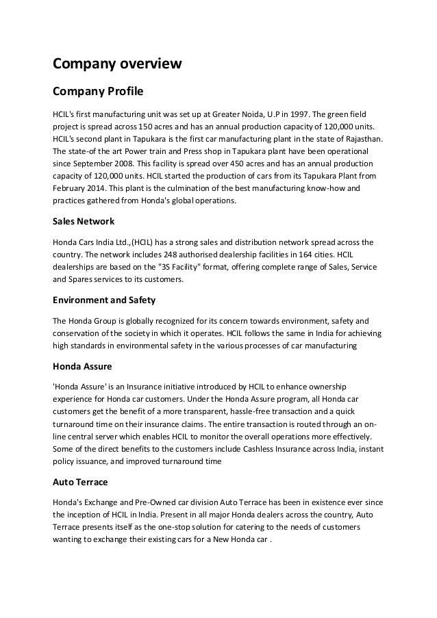 Honda ERP Report