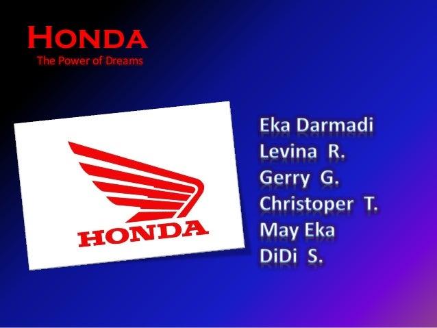 The Power of Dreams Honda